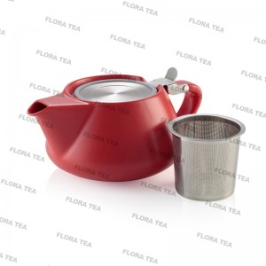 FLORA TEA PORCELAIN TEAPOT RED - 500ml